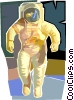 Vector Clip Art image  of an Astronaut in space suit