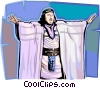 Vector Clip Art graphic  of a Biblical figure