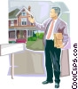 Real estate agent Vector Clipart image