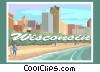 State of Wisconsin Vector Clip Art picture
