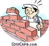 Brick layer Vector Clipart graphic