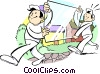Vector Clip Art graphic  of a Glass service technicians