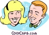 Vector Clipart illustration  of a Teens at the prom