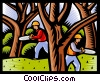 Vector Clipart illustration  of a forestry workers