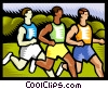 Vector Clip Art image  of a marathon runners