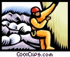 Mountain climber Vector Clipart illustration