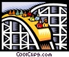Vector Clip Art graphic  of a roller coaster