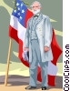 Vector Clipart picture  of a Robert E. Lee