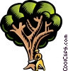 Vector Clip Art graphic  of a Cutting down a tree