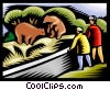 watching bears at the zoo Vector Clipart picture