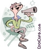 Movie director with megaphone Vector Clipart image