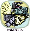 Vector Clipart picture  of a movie symbol