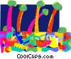 Vector Clip Art picture  of a travel and vacation