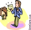 Vector Clipart picture  of a reading mail