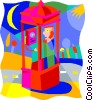 Vector Clip Art graphic  of a communications; phone