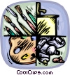 artist equipment Vector Clipart image
