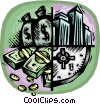 Vector Clipart illustration  of a money markets