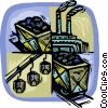 Vector Clip Art image  of a shipping industry
