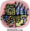 Vector Clip Art image  of a wine industry