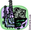 Vector Clip Art graphic  of a oil industry