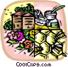 Vector Clip Art graphic  of a honey industry