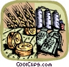 Vector Clip Art image  of an agricultural industry