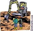 Vector Clipart image  of a excavation