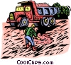 Dump truck Vector Clipart illustration
