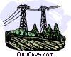 Vector Clipart graphic  of a hydro lines