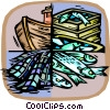 Vector Clip Art image  of a Commercial fishing concept