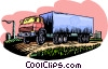 Vector Clipart image  of a transport truck