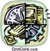 Vector Clipart graphic  of a high-tech industry