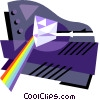 Vector Clip Art graphic  of a prism