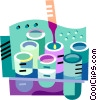 lab tests Vector Clip Art picture