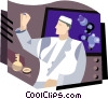 man working in lab Vector Clip Art picture