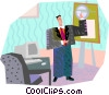 man at work Vector Clip Art picture