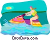 Vector Clipart picture  of a watercraft