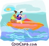 Vector Clip Art image  of a watercraft