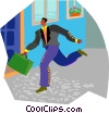 man running Vector Clip Art graphic