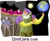 Galileo tried by Inquisition forced to recant Vector Clipart picture