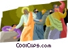 Jesus healing the sick Vector Clip Art graphic