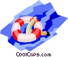 Vector Clipart illustration  of a life preserver