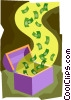 Vector Clipart illustration  of a chest of money