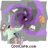 Business Presenter discussing Theory of Relativity Vector Clipart illustration