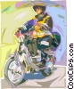 Motor scooter Vector Clipart picture