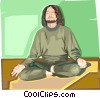 Vector Clip Art image  of a yoga