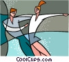 Vector Clip Art image  of a Pairs figure skaters