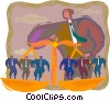 Vector Clipart graphic  of a symbolic business; balancing