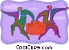 Vector Clipart graphic  of a symbolic business; direction
