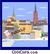 Vector Clipart image  of a Sweden